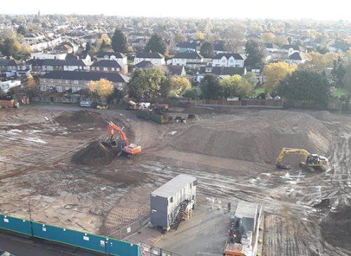 Demolition works in Havering