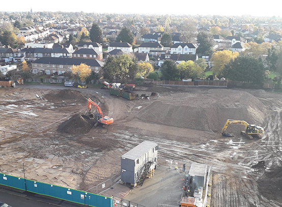 Demolition works in Havering