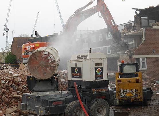 Demolition in Barking